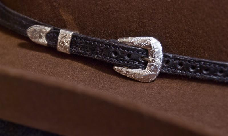 Hatbands Fritch Brothers Western Silver Solid Sterling