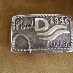 John Wayne Red River Buckle Fritch Brothers Western